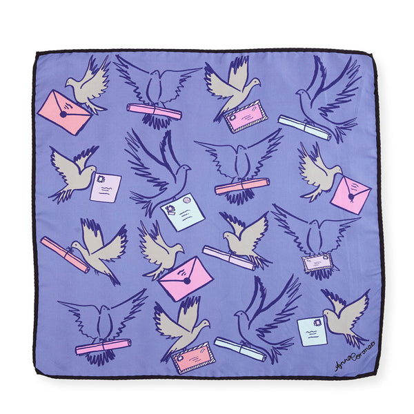 Messenger Birds Scarf - Blue