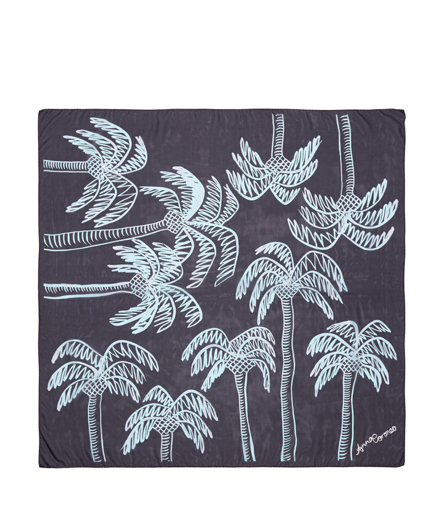 Palm Trees Scarf - Aqua