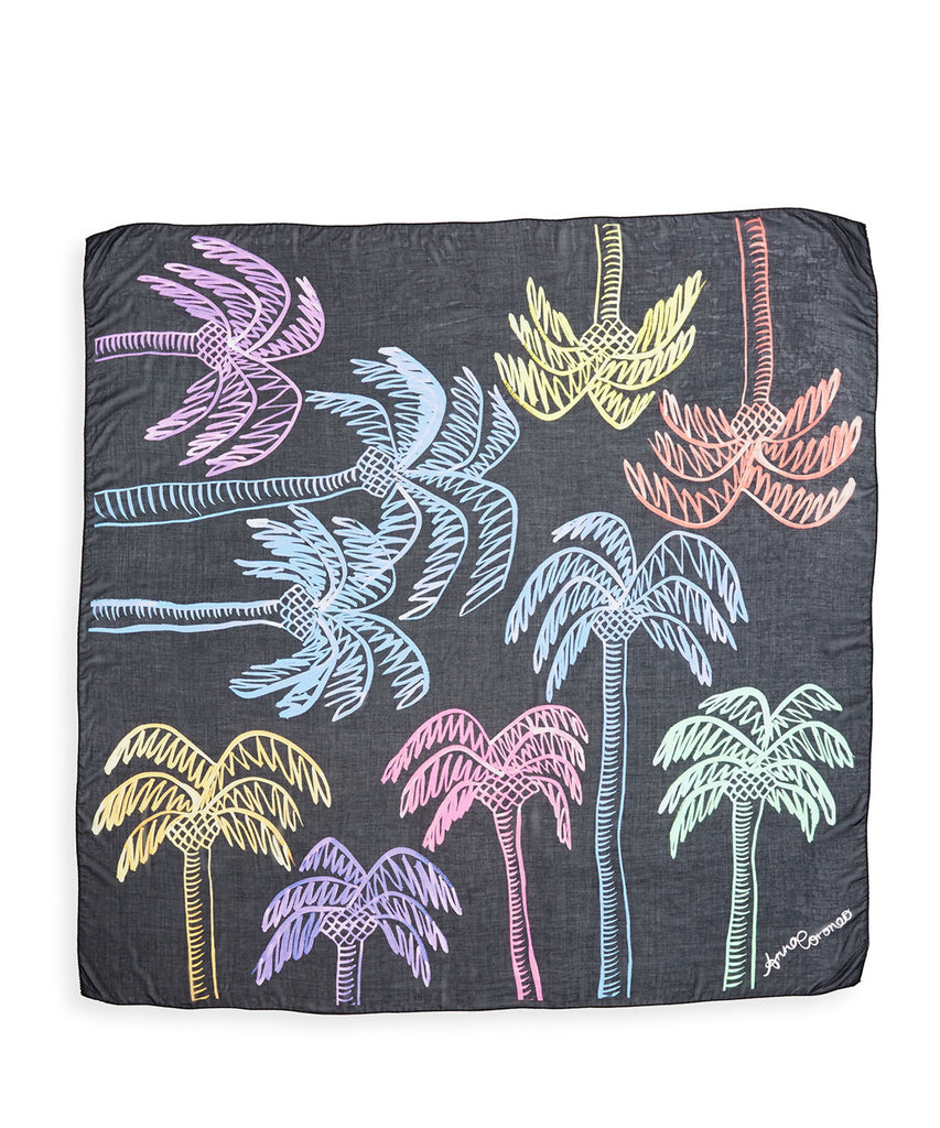 Palm Trees Scarf - Multi