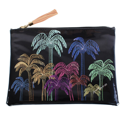 Palm Trees Travel Clutch