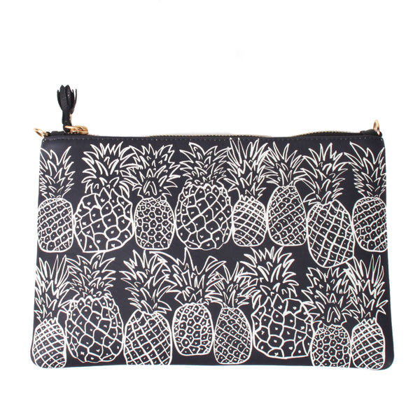 Pineapples Leather Clutch
