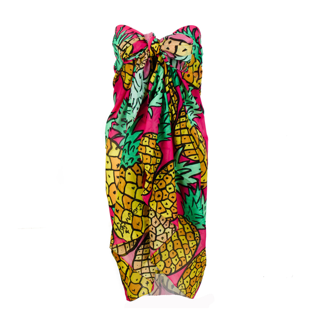 Pineapples Yellow/Pink Sarong