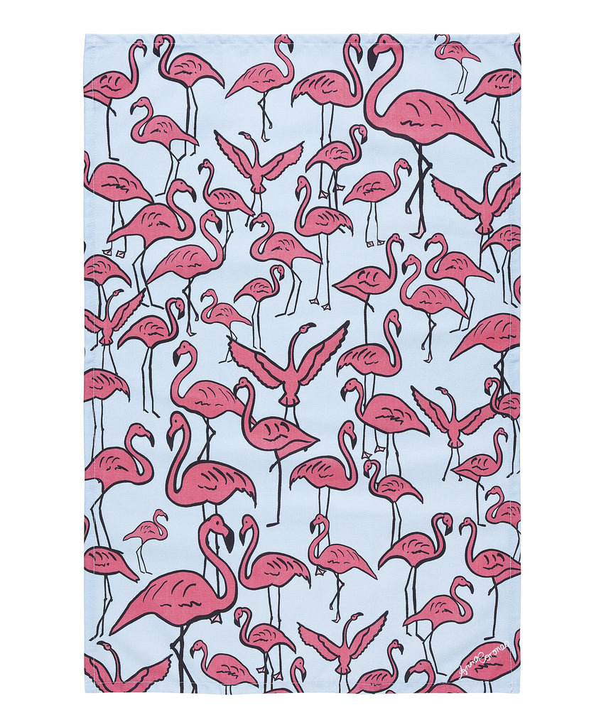 Flamingos Tea Towel