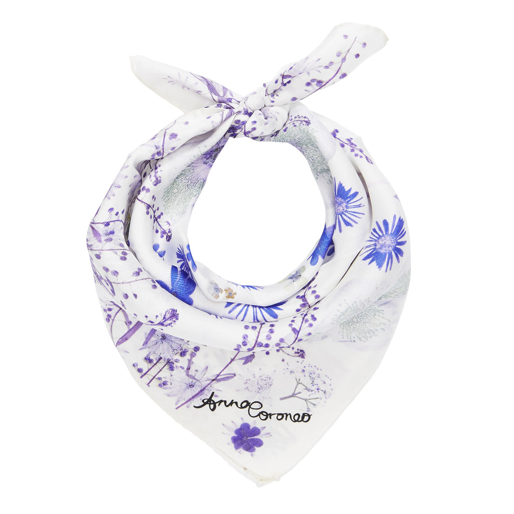 Pressed Flowers Scarf - Violet