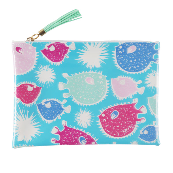 Puffer Fish Travel Clutch