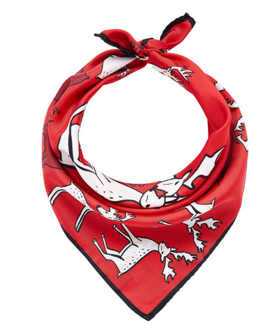 Reindeers Scarf - Red