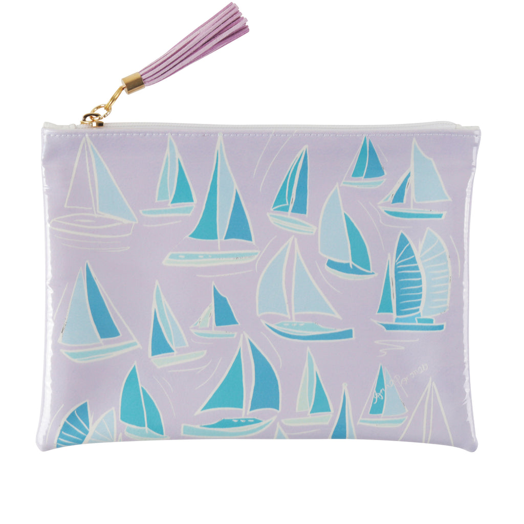 Sailboats Travel Clutch