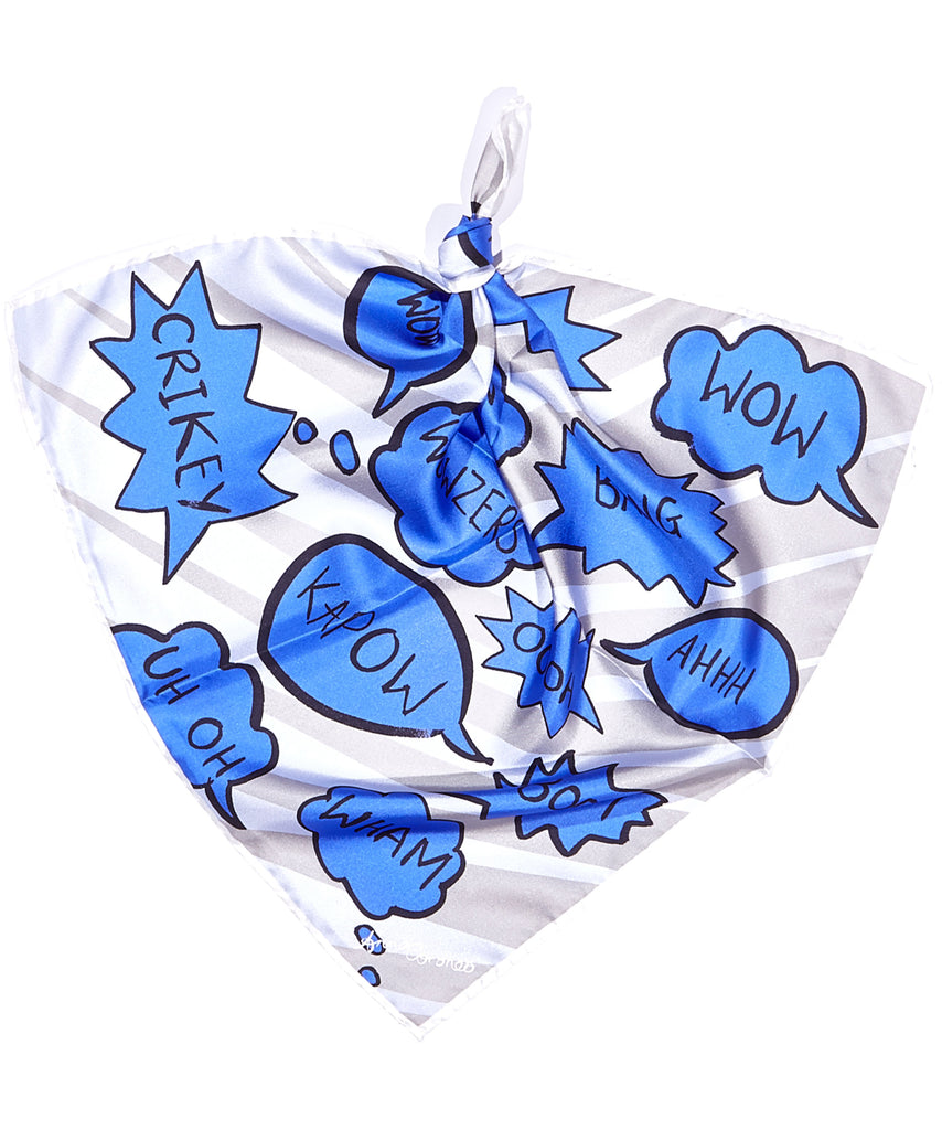 Speech Bubbles Scarf - Blue