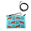 Tigers Leather Clutch