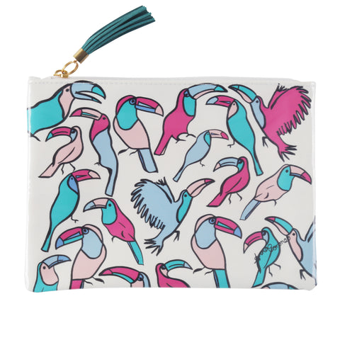 Toucans Travel Clutch
