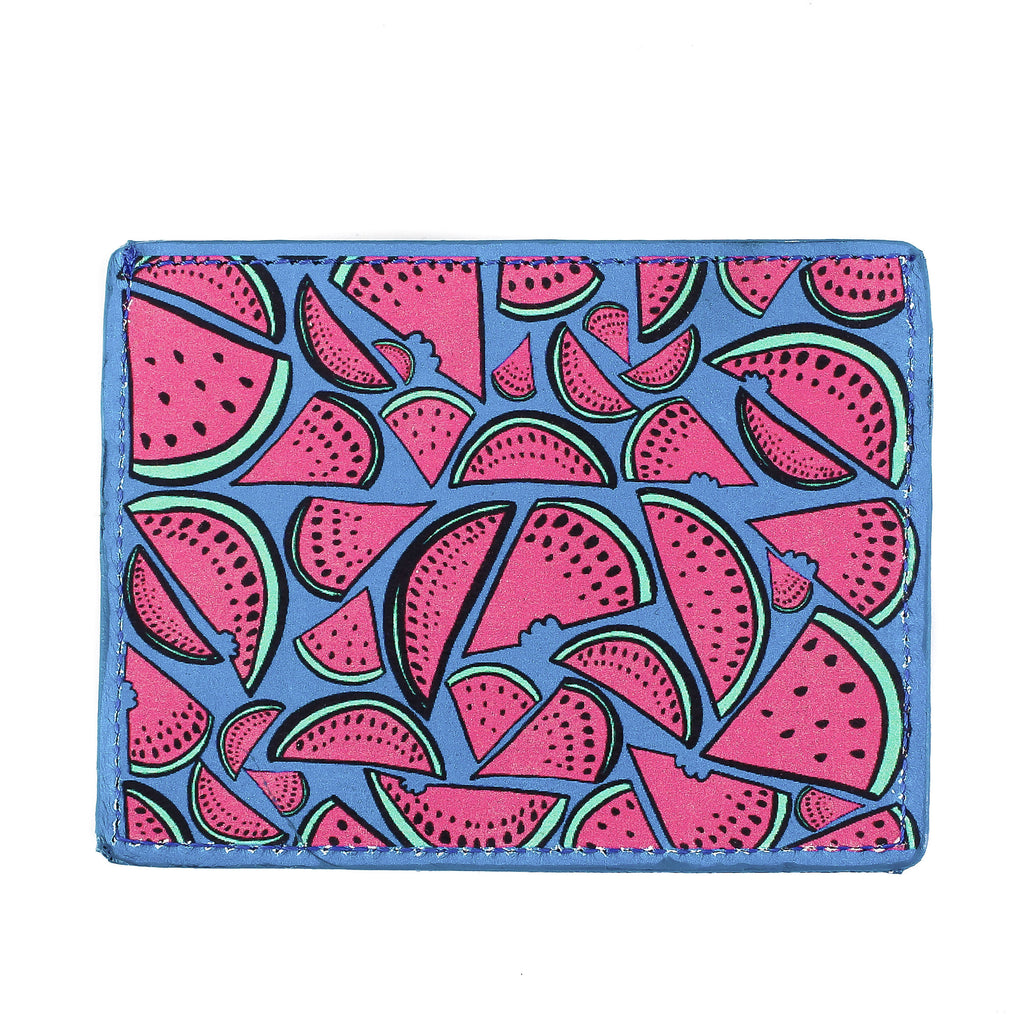 Watermelons Leather Cardholder