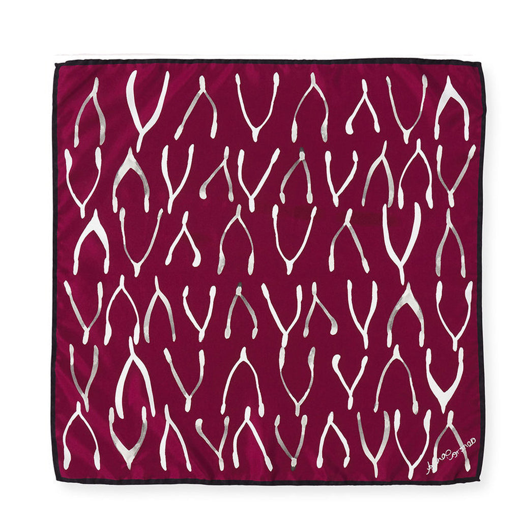 Wishbones Scarf - Red