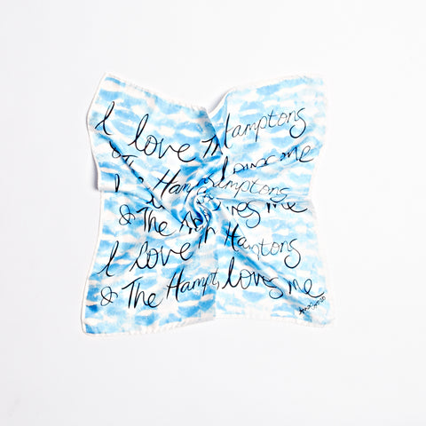 Kisses Hamptons Scarf - Blue/White
