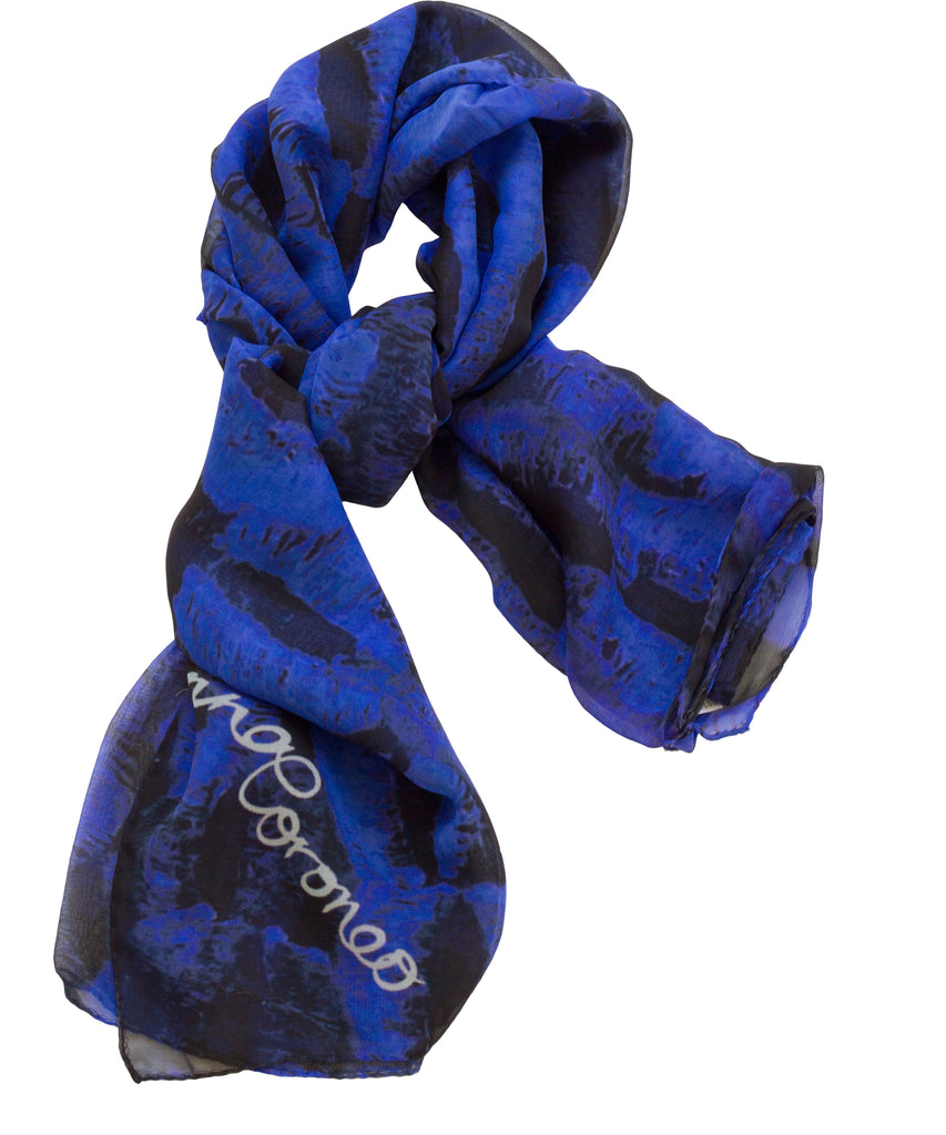 Kisses Scarf - Blue/Black