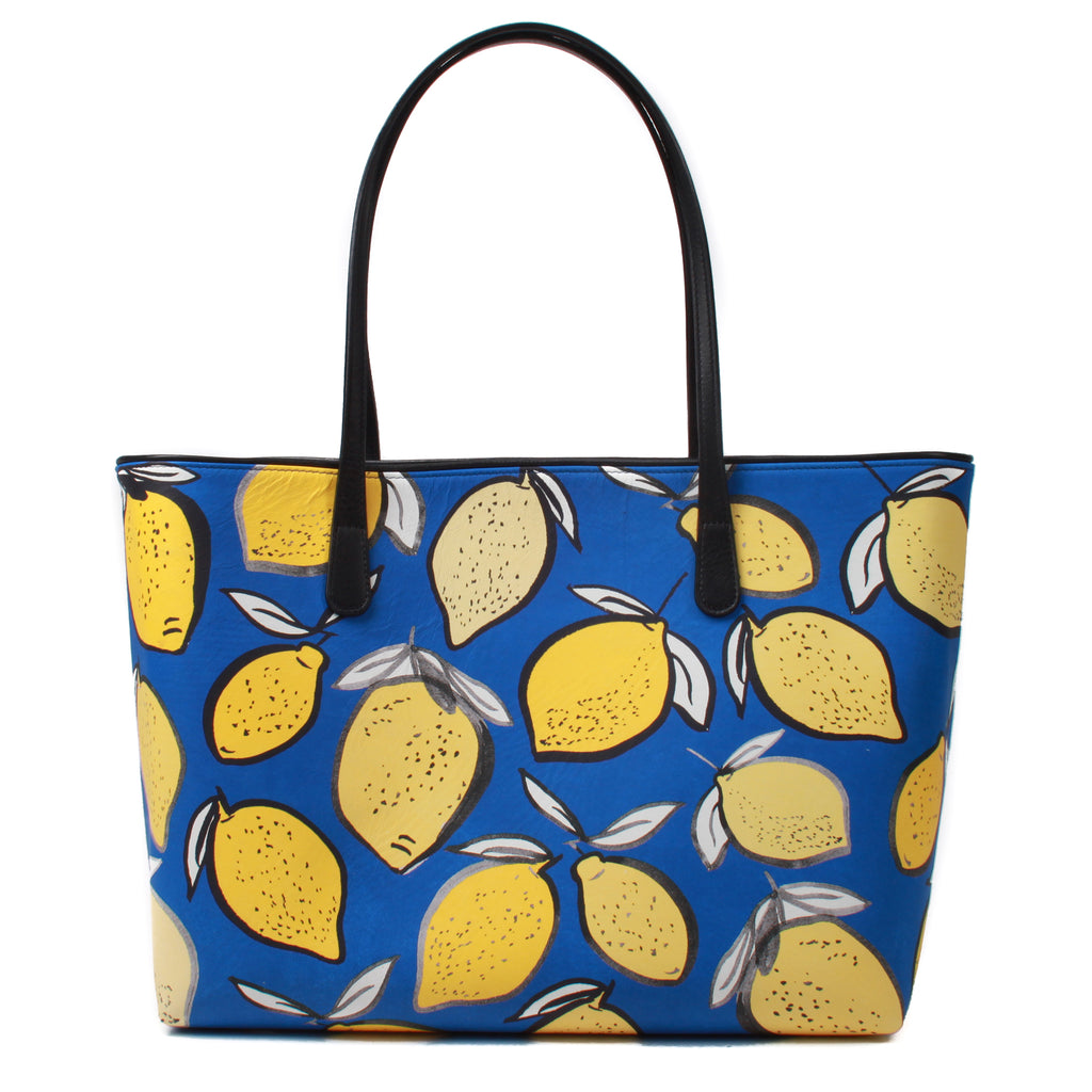 Lemons Leather Tote