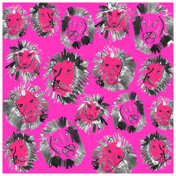 Lions Scarf - Pink