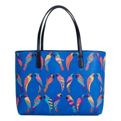 Parrots Leather Tote