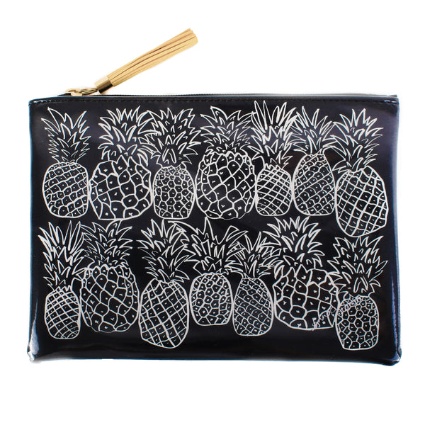 Pineapples Black&White Travel Clutch