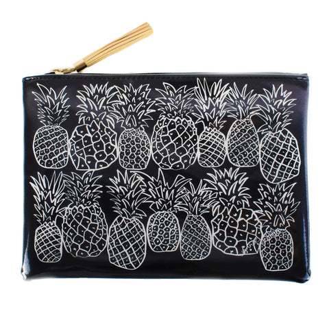 Pineapples Black&White Beach Pochette