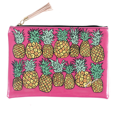 Pineapples Travel Clutch