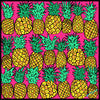 Pineapples Scarf - Yellow/Pink