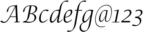 Lucida Calligraphy Narrow Lite