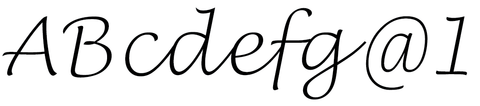 Lucida Handwriting Thin