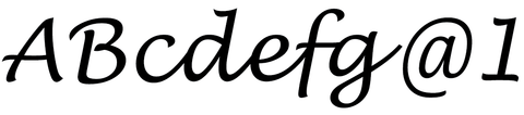 Lucida Handwriting Text