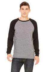 Men's Jersey Long-Sleeve Baseball T‑Shirt|Color