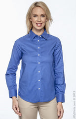 Ladies' Long-Sleeve Oxford with Stain‑Release|Color