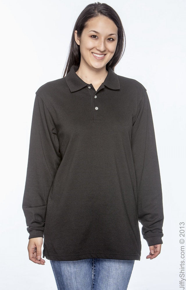 Unisex 5.6 oz. Easy Blend Long-Sleeve Polo|Color