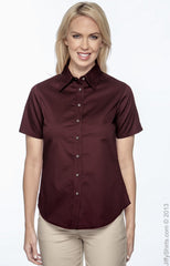 Ladies' Easy Blend™ Short-Sleeve Twill Shirt with Stain‑Release|Color