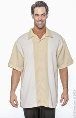 Men's Two-Tone Bahama Cord Camp Shirt|Color