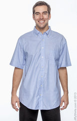 Men's Short-Sleeve Oxford with Stain‑Release|Color