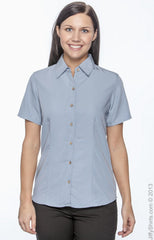 Ladies' Barbados Textured Camp Shirt|Color
