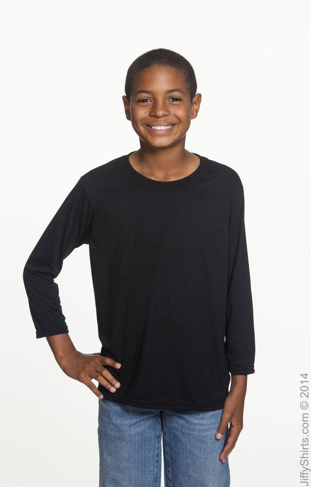 Youth Unisex Performance® 5 oz. Long-Sleeve T‑Shirt|Color
