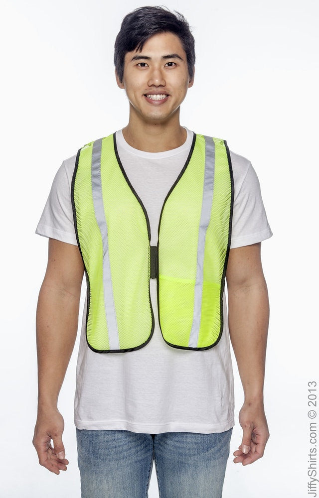 Adult Unisex Value Mesh Silver Bead Vest High Viz|Color