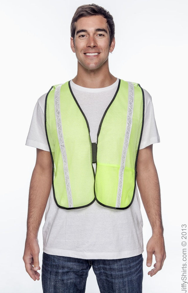 Adult Unisex Value Mesh Gloss Vest High Viz|Color