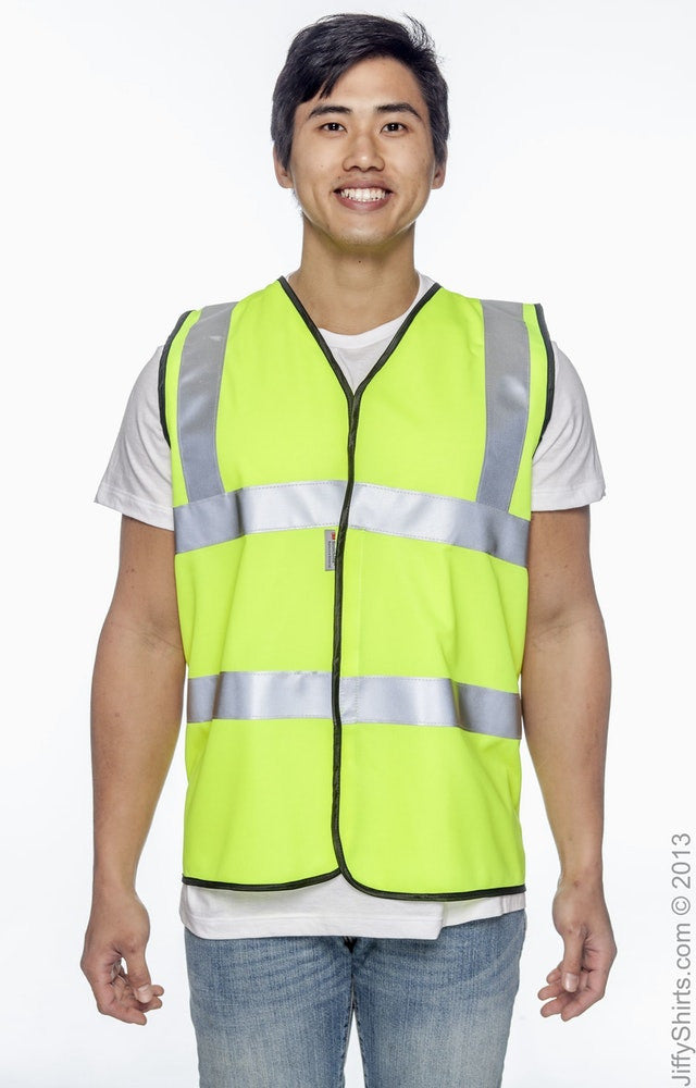 Adult Unisex Premium Solid Dual Stripe Vest High Viz|Color
