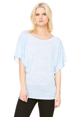 Ladies' Flowy Draped Sleeve Dolman T-Shirt|Color
