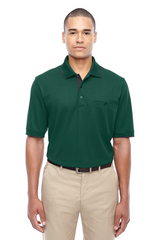 Men's Motive Performance Pique Polo with Tipped Collar|Color