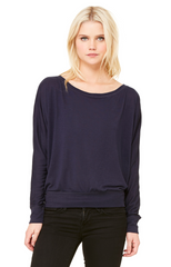 Ladies' Flowy Long-Sleeve Off Shoulder T‑Shirt|Color