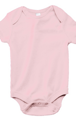 Infant Short-Sleeve Baby Rib One‑Piece|Color