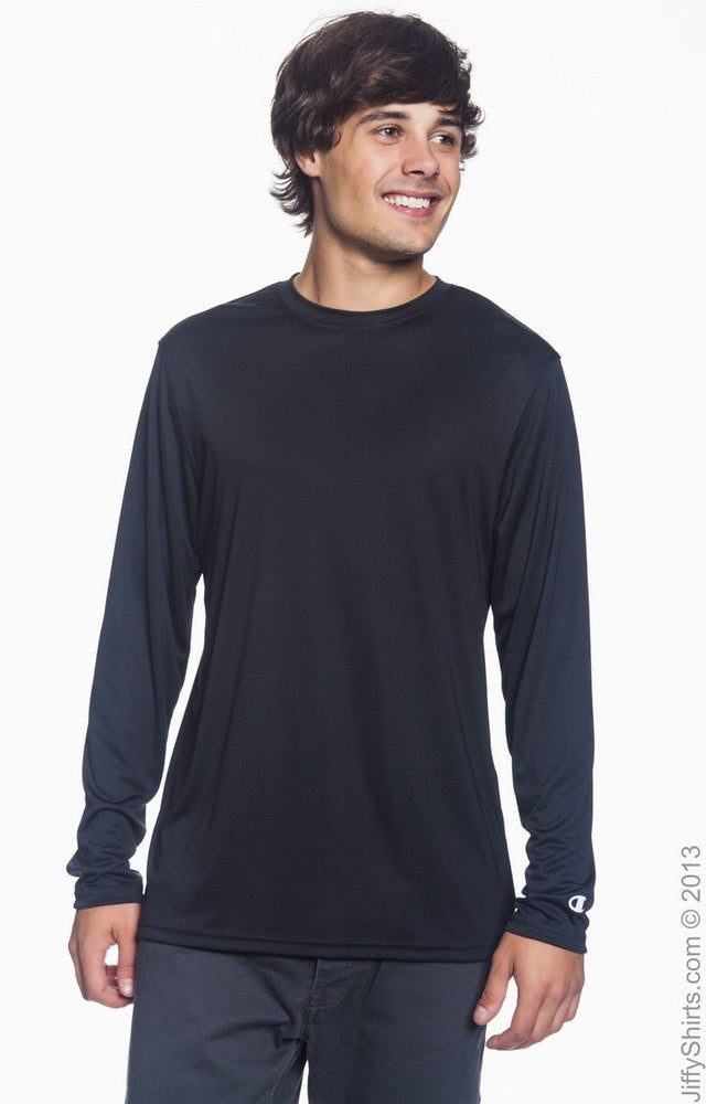 4.1 oz. Double Dry® Long-Sleeve Interlock T‑Shirt|Color
