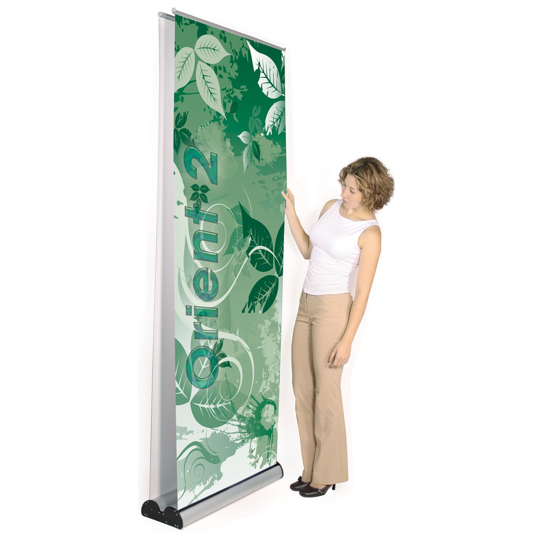 Expox Retractable Roll Up Banner Stand Double Sided