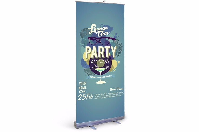 Expox Retractable Roll Up Banner Stand Single Sided