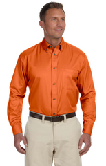 Men's Easy Blend™ Long-Sleeve Twill Shirt with Stain‑Release|Color