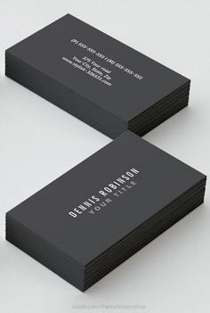 "2"" X 3.5"" 38 pt. Black Triple-Layered Business Cards"