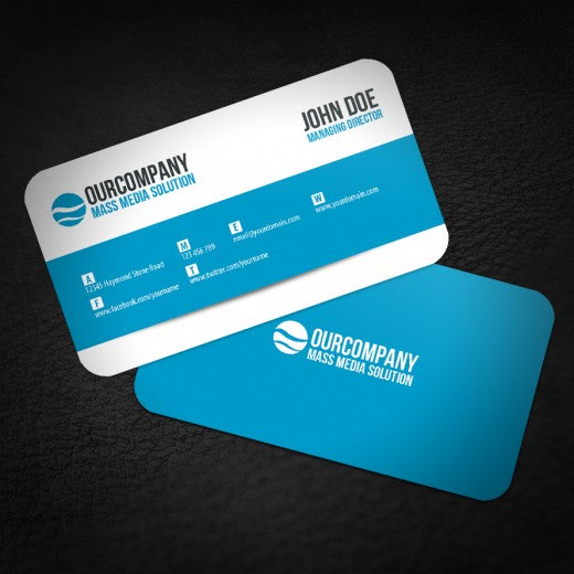 "2"" X 3.5"" Standard Uncoated Business Card With Rounded Corners"