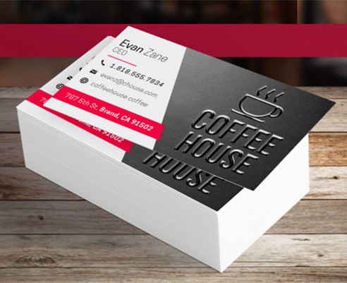 "2"" X 3.5"" Standard Uncoated Business Card With Spot UV"